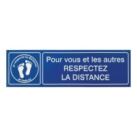 Plaque gravée Respect des distances