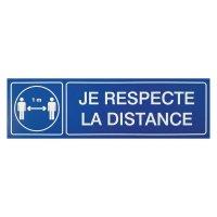 Plaque gravée Distance 1m