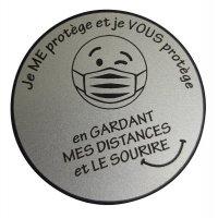 Lot de 5 badges rigides en plastique gravé