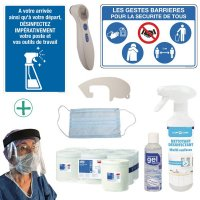 Kit complet de protection anti-virus 20 personnes