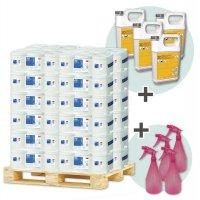 Kit désinfection 330 bobines de papier, désinfectants + vapo