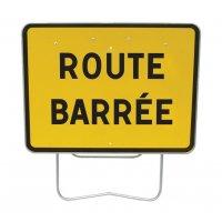 Panneaux Galva Route barrée