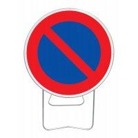 Panneau avec pied solidaire Stationnement interdit