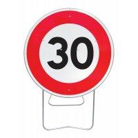Panneau avec pied solidaire Limitation de vitesse