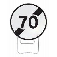 Panneau avec pied solidaire Fin limitation de vitesse