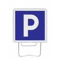 Panneau avec pied solidaire symbole Parking