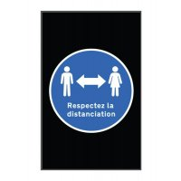 Tapis respect distanciation sociale en portrait