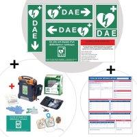 Kit complet défibrillateur et panneaux règlementaires