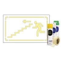 Kit Sol ou mur Pochoir descendre Escalier gauche