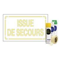 Kit Sol ou mur Pochoir texte Issue de Secours