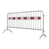Barrière amovible haute visibilité en acier galvanisé