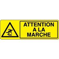 Panneau de signalisation Attention à la marche