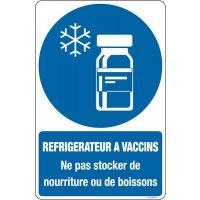 Panneaux réfrigérateur à vaccin ne pas stocker
