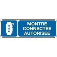Panneau Montre connectée autorisée picto et texte