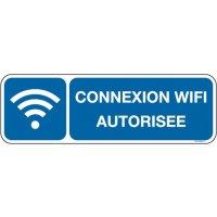 Panneau Connexion wifi autorisée picto et texte