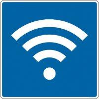Autocollant vitrophanie Wifi autorisé
