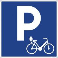 Panneau PVC parking vélo électrique