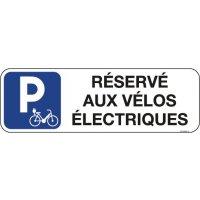 Panneau réservé aux vélos électriques