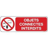 Panneau Objets connectés interdits picto et texte