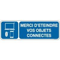 Panneau Merci d'éteindre objets connectés picto/texte