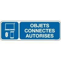Panneau Objets connectés autorisés picto et texte