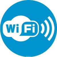 Autocollant vitrophanie Zone Wifi