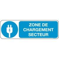 Panneaux zone charge secteur Picto et texte