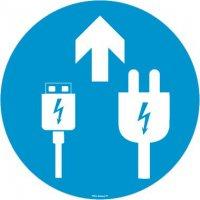 Panneaux zone chargement USB et secteur avec Flèche