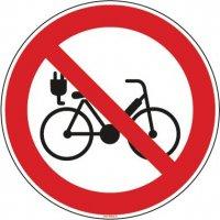Panneau vélo électrique interdit