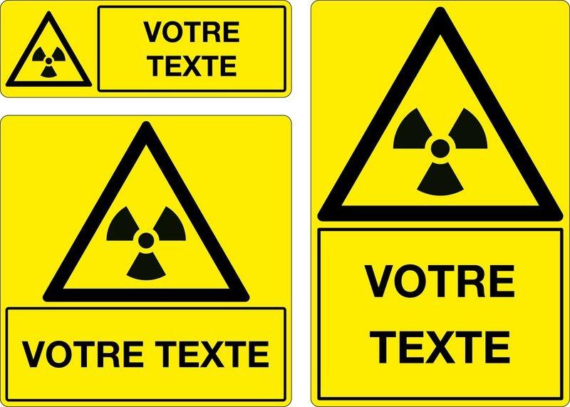 Panneau Matières radioactives personnalisé