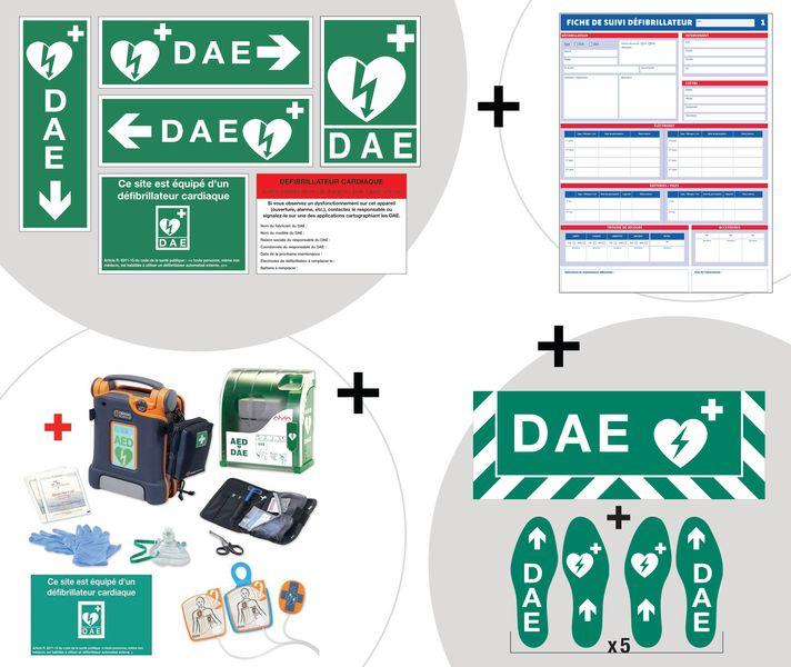 Kit complet défibrillateur et signalétique