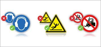 Pictogrammes de sécurité conformes à la norme NF EN ISO 7010