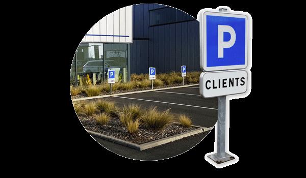 Parking gratuit réservé aux clients