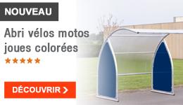 NOUVEAU - Abri vélos motos joues colorées