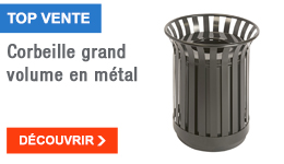 TOP VENTE - Corbeille grand volume en métal