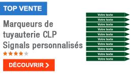 TOP VENTE - Marqueurs de tuyauterie CLP Signals personnalisés