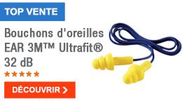 TOP VENTE - Bouchons d'oreilles EAR 3M™ Ultrafit® 32 dB