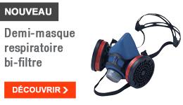 NOUVEAU - Demi-masque respiratoire bi-filtres