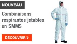 NOUVEAU - Combinaisons respirantes jetables en SMMS