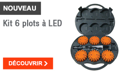 NOUVEAU - Kit 6 plots à LED