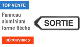 TOP VENTE - Panneau aluminium forme flèche