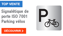 TOP VENTE - Signalétique de porte ISO 7001 Parking vélos