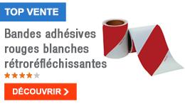 TOP VENTE - Bandes adhésives rouges blanches rétroréfléchissantes