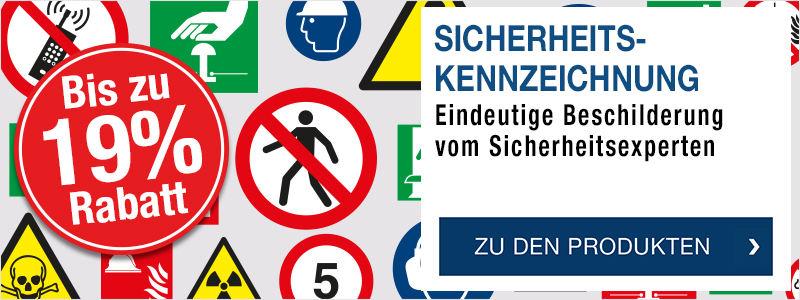Sicherheitskennzeichnung & Betriebskennzeichnung - Eindeutige Beschilderung vom Sicherheitsexperten - Jetzt bis zu 19 % Rabatt sichern