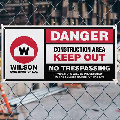 Giant Construction Site Safety Signs