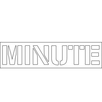 Plastic Word Stencils - Minute