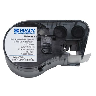 Brady M-60-483 BMP51/BMP41 Label Cartridge - Black on White