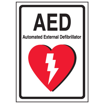AED Label - Automated External Defibrillator