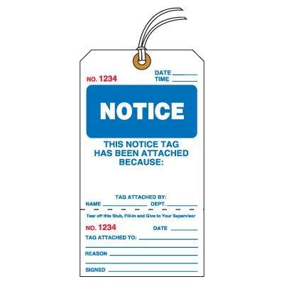 Tear-Off Jumbo Notice Tags