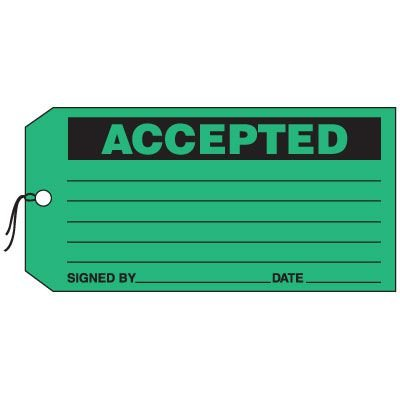 Production Control Tags - Accepted